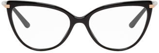Dolce & Gabbana Black SIlican Sweet Cat Eye Optical Glasses