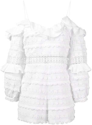 Alexis ruffle detail playsuit