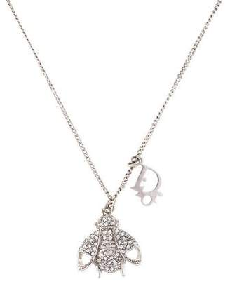 Christian Dior Crystal Bee Pendant Necklace