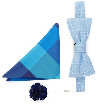 Original Penguin Kent Dot Bow Tie, Pocket Square, & Lapel Pin Set $69 thestylecure.com