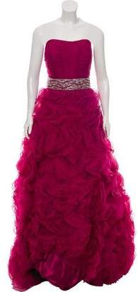 Jovani Ruffle-Accented Strapless Gown w/ Tags