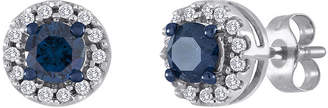 JCPenney FINE JEWELRY 1/2 CT. T.W. White and Color-Enhanced Blue Diamond Stud Earrings
