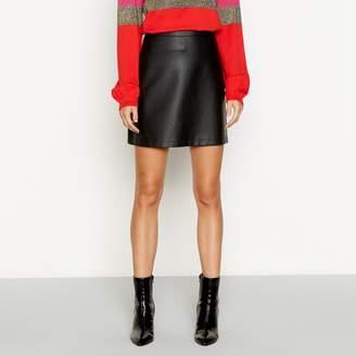 Red Herring Black Faux Leather Mini Skirt