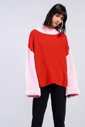 Glamorous **Contrast Block Knit Jumper