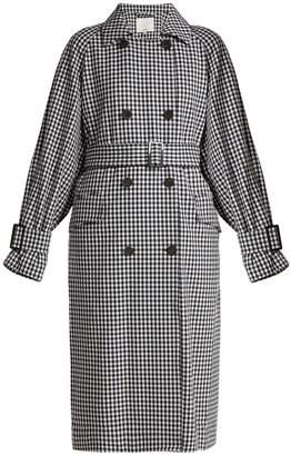 Tibi Gingham oversized trench coat