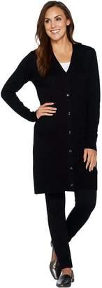 Denim & Co. Regular Long Sleeve Button Front Sweater Cardigan