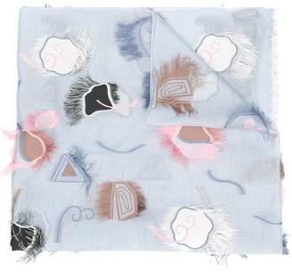 Giorgio Armani fringed scarf