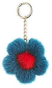 The Fur Salon Women's Mink Flower Keychain