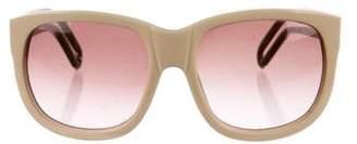 Chloé Logo Square Gradient Sunglasses