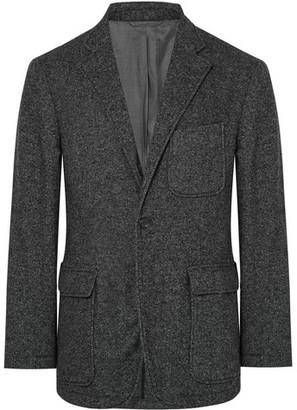 Charcoal Slim-Fit Wool-Blend Blazer