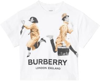 Burberry PRINT COTTON JERSEY T-SHIRT