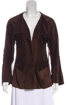 Marni Open-Front Suede Jacket