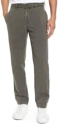 Billy Reid Leonard Slim Leg Cotton & Linen Chinos