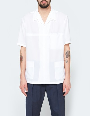 Three Pocket Shirt in White $468 thestylecure.com