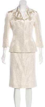 Dolce & Gabbana Metallic Knee-Length Skirt Set