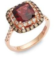 Effy 14K Rose Gold, Garnet & Diamond Ring