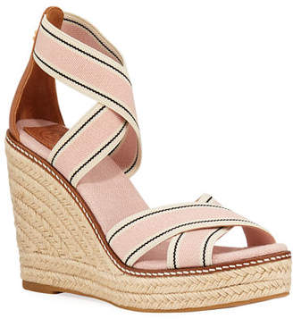 68108682b2 Tory Burch Frieda Strappy Woven Wedge Espadrilles