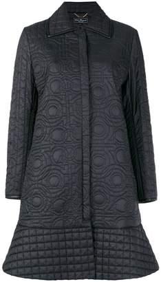 Salvatore Ferragamo quilted Gancio coat