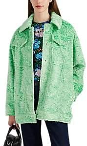 VIVETTA Women's Hayez Faux-Fur Oversized Jacket - Lt. Green