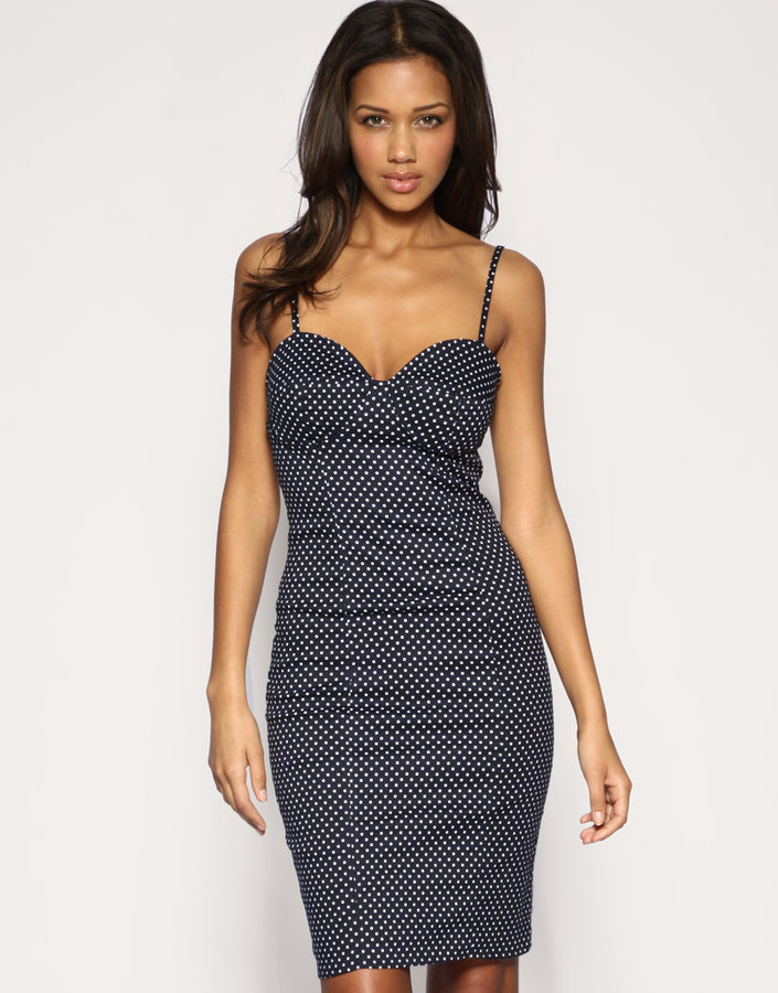 Rare Polka Dot Pencil Dress