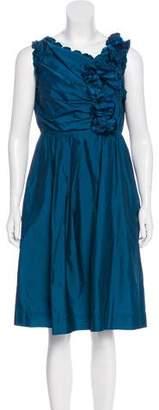 Robert Rodriguez Ruffled Sleeveless Dress