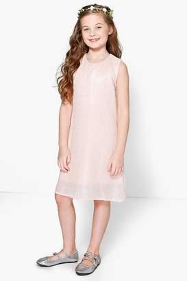 boohoo Girls Boutique Sequin Swing Dress