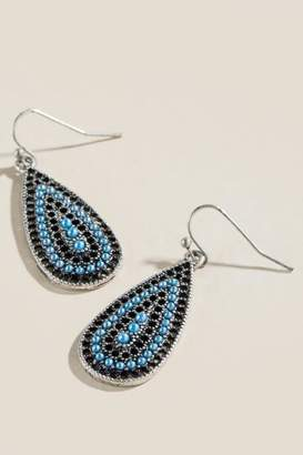 francesca's Delaney Blue Teardrop Earrings - Periwinkle