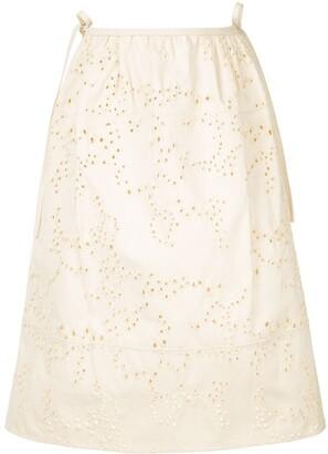 Jil Sander perforated details skirt