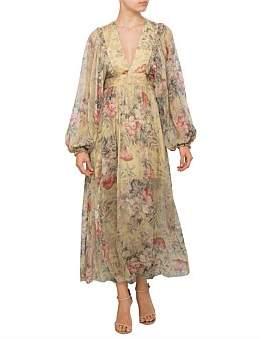 Zimmermann Melody Wrap Long Dress
