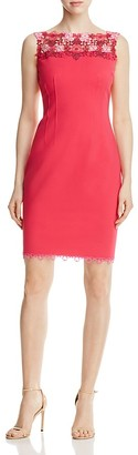 Elie Tahari Laurence Lace Yoke Dress $298 thestylecure.com
