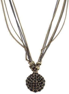 Giles & Brother Crystal Shell Pendant Necklace $125 thestylecure.com