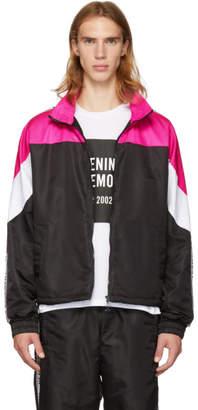Opening Ceremony Pink and Black Nylon Warm-Up Jacket