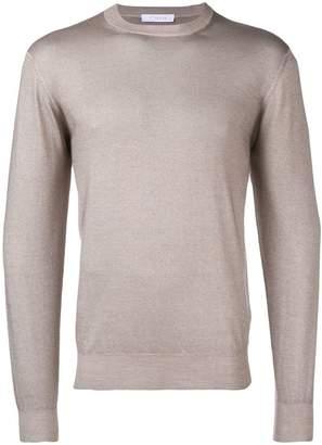 Cruciani fine knit V-neck sweater