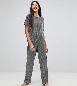 Asos Tall Mono Stripe Wide Leg Pyjama Trouser