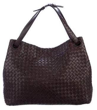 Bottega Veneta Intrecciato Leather Tote Brown Intrecciato Leather Tote
