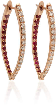 Christina Melissa Kaye 18K Pink Gold Diamond and Ruby Earrings