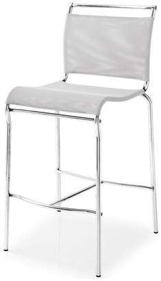 Calligaris Air Stool, Satin Steel Frame, Synthetic Fabric Net Seat