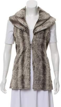 Alice + Olivia Shawl-Lapel Fur Vest