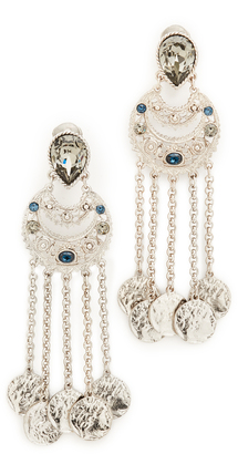 Oscar de la Renta Crystal Clip On Earrings $365 thestylecure.com