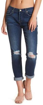 7 For All Mankind Josefina Squiggle Skinny Boyfriend Jeans