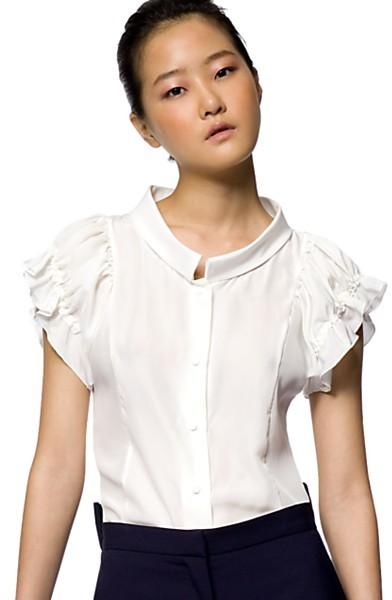 Fendi Gathered Puff-Sleeve Blouse