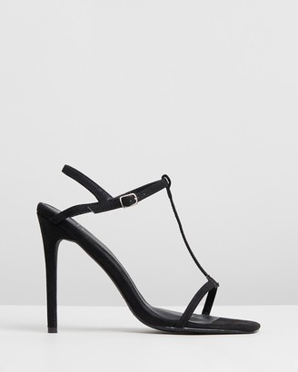 Missguided T-Bar Barely There Stilettos