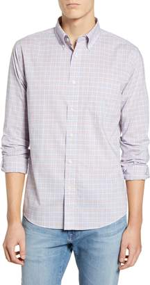 Faherty Regular Fit Plaid Stretch Poplin Button-Down Sport Shirt