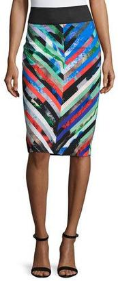 Milly Mirage Striped Midi Skirt $295 thestylecure.com