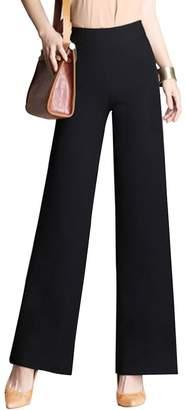 3.1 Phillip Lim Gooket Women's High Waist Wide Flare Leg Pants Casual Loose Long Pants Tag