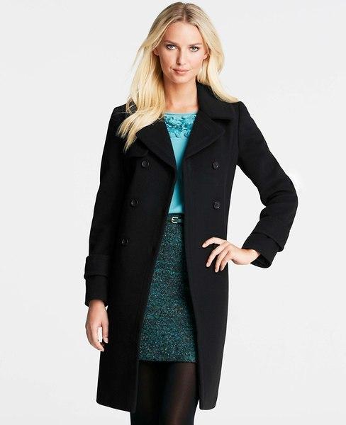 Ann Taylor Petite Wool Blend Debonair Coat
