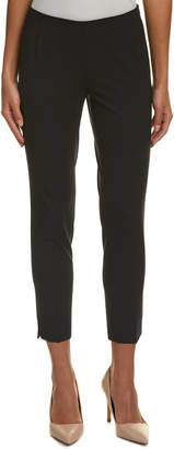 Lafayette 148 New York Side-Zip Wool-Blend Crop Pant