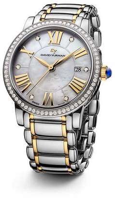 David Yurman Classic 38mm Stainless Steel Quartz with Diamond Bezel & Gold