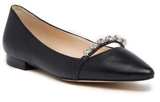 Karl Lagerfeld Paris Colette Leather Flat
