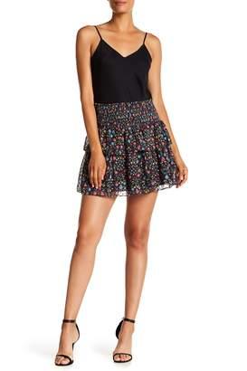Cynthia Rowley Mini Floral Tiered Skirt